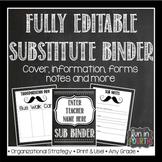 Editable Sub Binder - Chalkboard Themed