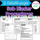 Editable Substitute Binder Forms for your Sub Tub | PRINTABLE