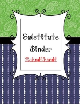 Sub Binder - Canadian Edition (Editable)