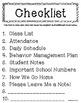 Sub Binder Cover Page & Checklist: FREEBIE