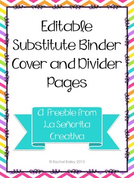 Sub Binder Coverpage and Section Dividers