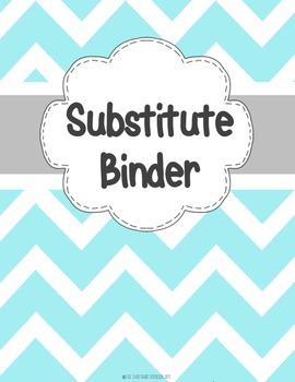 Sub Binder EDITABLE {Chevron}