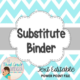 Sub Binder EDITABLE {Chevron}