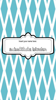 Sub Binder- Editable!