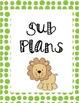 Sub Binder Page Dividers- Jungle Polka Dot