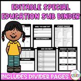 Substitute Binder: Special Education Sub