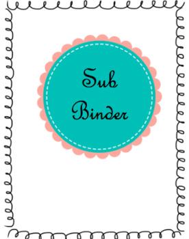 Sub Binder Template
