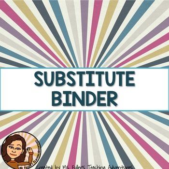 Sub Binder for Secondary Teachers