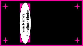 Sub Binder or Tub Labels - Black & Pink