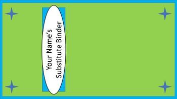 Sub Binder or Tub Labels - Lime & Teal