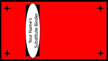 Sub Binder or Tub Labels - Red & Black