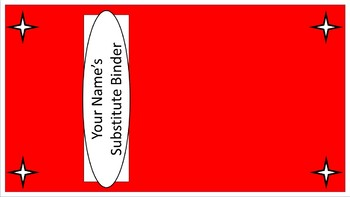 Sub Binder or Tub Labels - Red & White