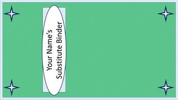 Sub Binder or Tub Labels - Sea Foam Diagonal Mini-Stripes