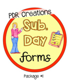 Sub. Day Forms package #1 For Supply / Substitute Teachers