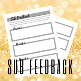 Sub Feedback Sheet