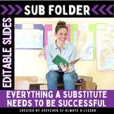 Substitute Folder:  Ideas and Printables for a Sub [Editable]