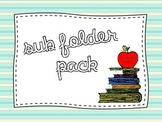 Sub Folder Pack {great for 1st, 2nd, 3rd grade}