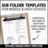 Sub Folder Templates - Editable Substitute Binder Forms fo