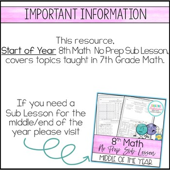 Sub Lesson - 8th Grade Math