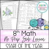 Sub Lesson - 8th Grade Math