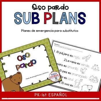 Sub Lesson plan for one day Oso Pardo