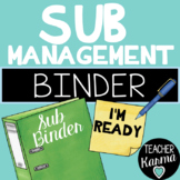 Sub Management Binder ~ HUGE Substitute Organization Kit ~ Forms