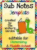 Sub Notes EDITABLE Template