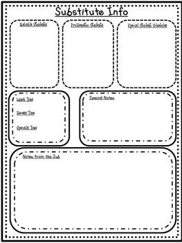 Sub Notes Substitute Plans