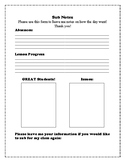 Sub Notes Template