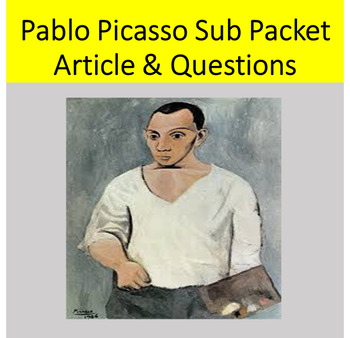 Sub Packet for Spanish Class Pablo Picasso