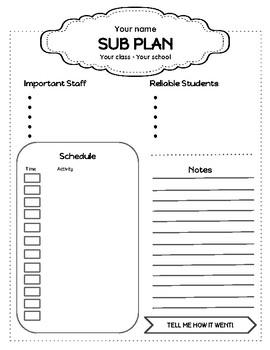 Sub Plan