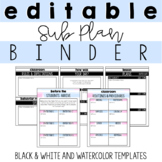 Sub Plan Binder-Fully Editable