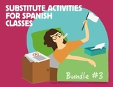 Spanish Substitute Activities Set #3: Storyboards for Leve