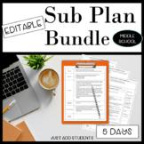 Sub Plan Bundle of Lesson Plans for Substitute Teachers