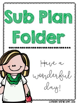Sub Plan Folder Covers [All Subject Areas]