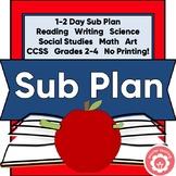 Sub Plan: All Subjects Grades 3-5 NO PRINTING