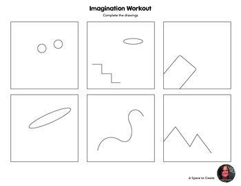 Sub Plan - Imagination Workout Worksheets - Creativity ...