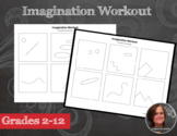 Sub Plan - Imagination Workout Worksheets - Creativity Doo