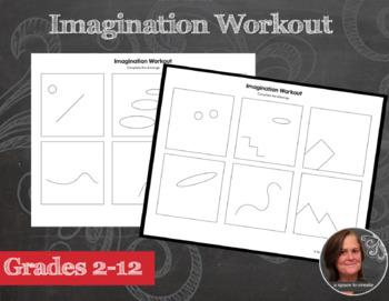 Sub Plan - Imagination Workout Worksheets - Creativity Doo