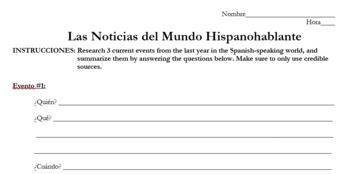 Sub Plan: News from the Spanish-Speaking World