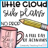 No Prep Sub Plans- Little Cloud
