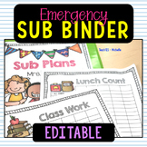 1st Grade Sub Plans Editable