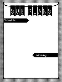 Sub Plan Template (EDITABLE)