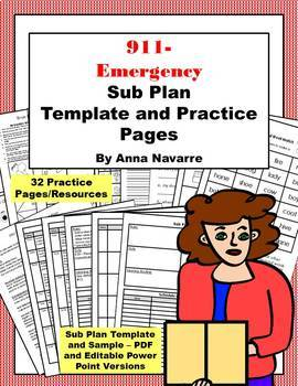 Sub Plan Template and Practice Pages