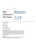 Sub Plan Template and Sample