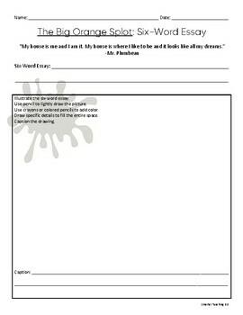 Sub Plan The Big Orange Splot Grades 3-6