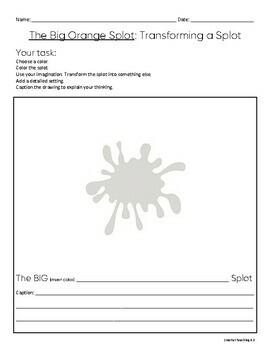 Sub Plan: The Big Orange Splot Grades 3-6