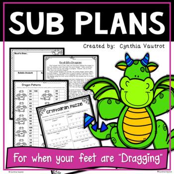 Sub Plans for 3rd Grade!  Komodo Dragons
