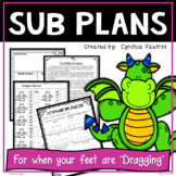 Sub Plans - Substitute Lesson Plans for 3rd Grade