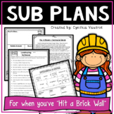 Substitute Lesson Plans for 4th Grade Construction Theme